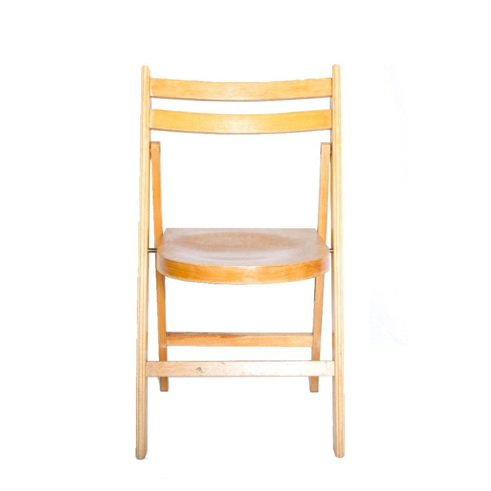 Stoel (Klapstoel met houten zitting)