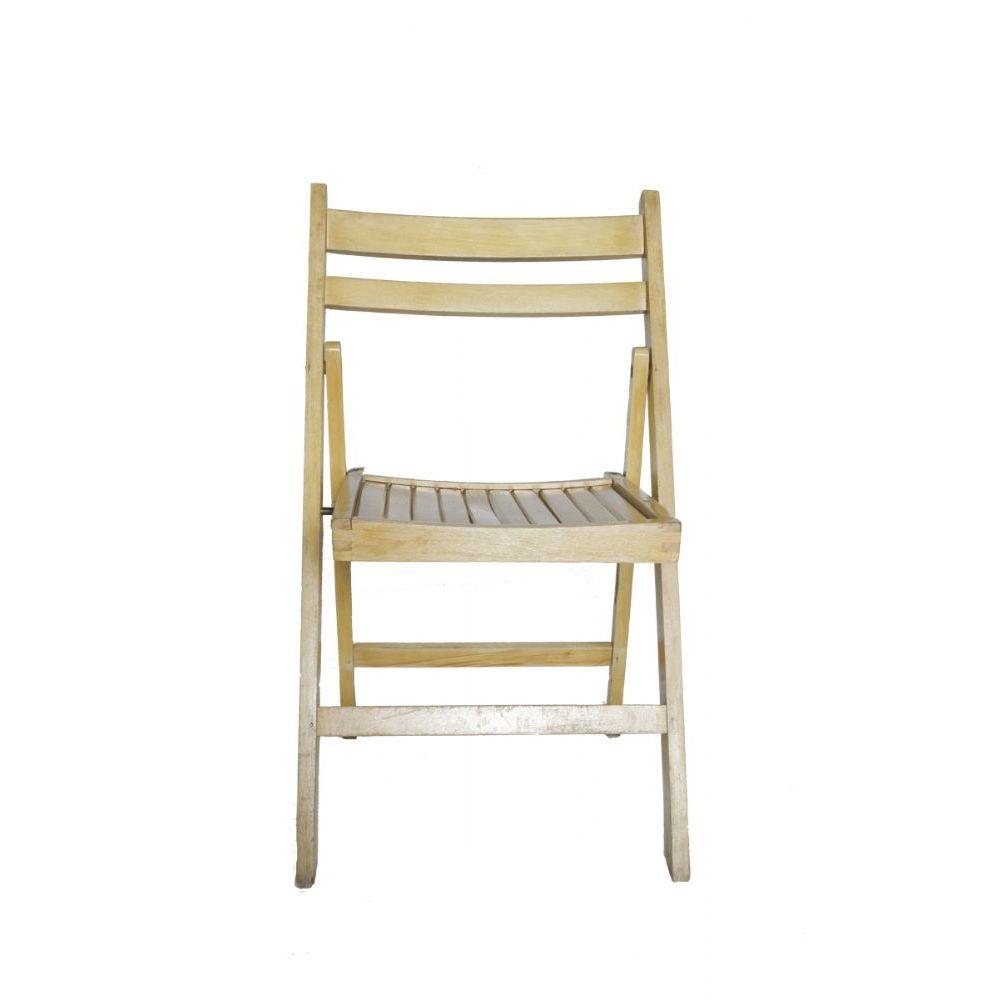 Stoel (Klapstoel met houten zitting voor buiten)
