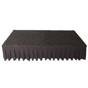 Podiumrok zwart 80 cm
