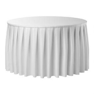 Rok voor klaptafel rond 150 Wit
