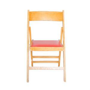 Stoel (Klapstoel met rode skaizitting)