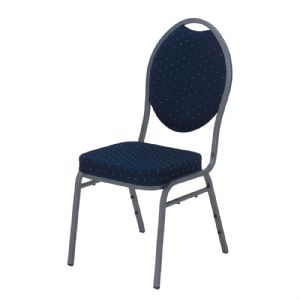 Stoel (Stack chair blauwe bekleding)